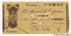 25 Pesetas ESPAGNE Bilbao 1937 PS.552(i) TTB+