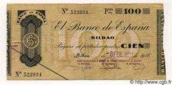 100 Pesetas ESPAGNE  1937 PS.554h pr.TTB