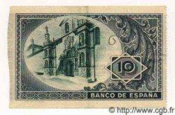 10 Pesetas ESPAGNE  1937 PS.562h TTB+