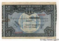 50 Pesetas ESPAGNE Bilbao 1937 PS.564h TTB