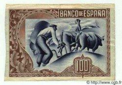 100 Pesetas ESPAGNE  1937 PS.565(h) TTB+