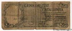 2.5 Pessetes ESPAGNE  1936 PS.591b B