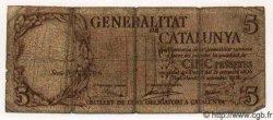5 Pessetes ESPAGNE  1936 PS.592 B