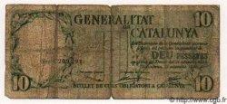 10 Pessetes ESPAGNE Catalunya 1936 PS.593 B