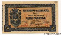 100 Pesetas ESPAGNE  1937 PS.580 SPL