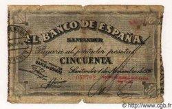 50 Pesetas ESPAGNE Santander 1936 PS.584(a) B