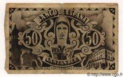 50 Pesetas ESPAGNE  1936 PS.584(e) B+
