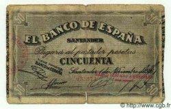 50 Pesetas ESPAGNE Santander 1936 PS.584(c) B