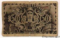 50 Pesetas ESPAGNE  1936 P.S584(c) B