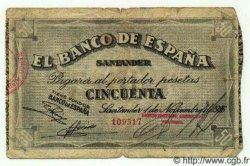 50 Pesetas ESPAGNE  1936 PS.584(c) B+