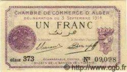 1 Franc ALGÉRIE Alger 1914 JP.01 NEUF
