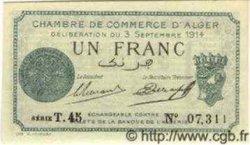 1 Franc ALGÉRIE Alger 1914 JP.03 NEUF