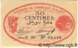 50 Centimes ALGÉRIE Alger 1919 JP.137.11 NEUF