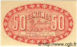 50 Centimes ALGER ALGÉRIE  1919 JP.137.11 NEUF