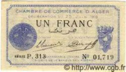 1 Franc ALGÉRIE  1919 JP.09