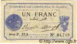 1 Franc ALGÉRIE Alger 1919 JP.09 NEUF