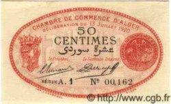 50 Centimes ALGÉRIE Alger 1920 JP.10 SPL