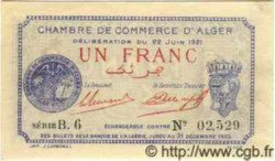 1 Franc ALGÉRIE Alger 1921 JP.15 pr.NEUF