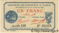1 Franc ALGÉRIE Alger 1923 JP.23 NEUF