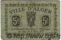 5 Centimes ALGÉRIE Alger 1917  TTB