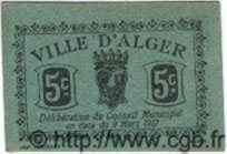 5 Centimes ALGÉRIE Alger 1917  SUP+