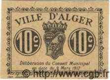 10 Centimes ALGÉRIE Alger 1916 JPCV.03 TTB