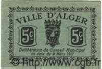5 Centimes ALGÉRIE Alger 1917  SPL