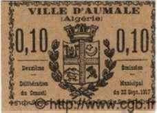 10 Centimes ALGÉRIE Aumale 1917  TTB