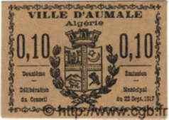 10 Centimes ALGÉRIE Aumale 1917  NEUF