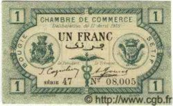 1 Franc ALGÉRIE Bougie - Sétif 1915 JP.02 NEUF