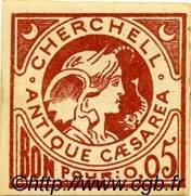 Bon Pour 5 Centimes CHERCHELL ALGÉRIE  1915 JPCV.01 TB à TTB