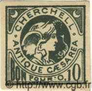 10 Centimes ALGÉRIE Cherchell 1915  TTB+