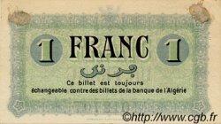 1 Franc ALGÉRIE Constantine 1915 JP.02 TTB