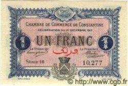 1 Franc ALGÉRIE Constantine 1917 JP.10 pr.NEUF