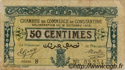 50 Centimes ALGÉRIE Constantine 1918 JP.11 TB