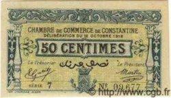 50 Centimes CONSTANTINE ALGÉRIE  1918 JP.140.17 NEUF