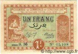 1 Franc ALGÉRIE  1919 JP.14 SPL