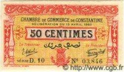 50 Centimes ALGÉRIE Constantine 1920 JP.17 NEUF