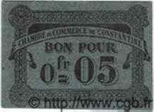 Bon Pour 5 Centimes ALGÉRIE  1915 JP.38 NEUF