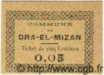 5 Centimes DRA-EL-MIZAN ALGÉRIE  1917  NEUF