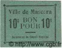 10 Centimes MASCARA ALGÉRIE  1915 JPCV.02 SPL