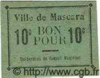 10 Centimes MASCARA ALGÉRIE  1915 JPCV.02 NEUF