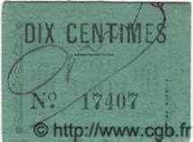 Bon Pour 10 Centimes ALGÉRIE  1915  SPL
