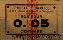 5 Centimes MOSTAGANEM ALGÉRIE  1915 JPCV.01 TTB+