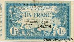 1 Franc ALGÉRIE Oran 1915 JP.02 TB