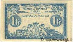 1 Franc ALGÉRIE Oran 1915 JP.02 NEUF