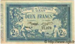 2 Francs ORAN ALGÉRIE  1915 JP.141.03 SPL