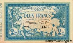 2 Francs ORAN ALGÉRIE  1915 JP.141.03 NEUF