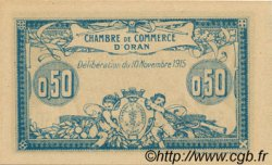 50 Centimes ORAN ALGÉRIE  1915 JP.141.04 NEUF