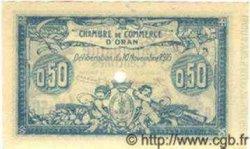 50 Centimes ORAN ALGÉRIE  1915 JP.141.06 NEUF